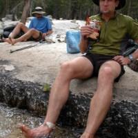 Soaking feet, Silver Pass Creek, John Muir Wilderness, High Sierra