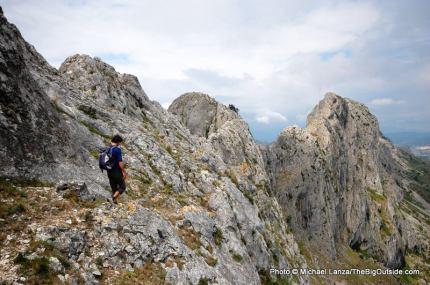 Hiking Bernia Ridge.