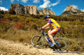 Biking to castle ruins above Guadalest.