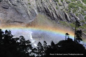 Rainbow below Upper Yosemite Falls.