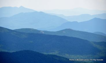 The view southeast from Mount Eisenhower.