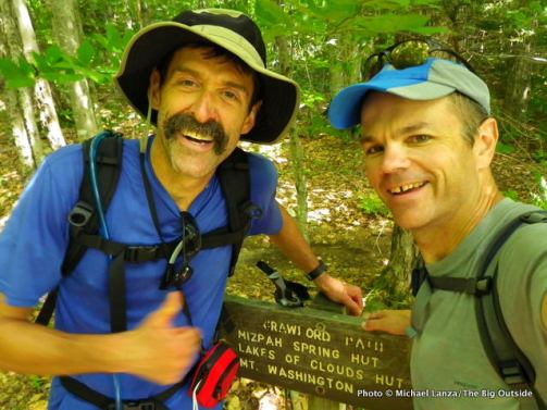 The hike's finish: Crawford Path trailhead.