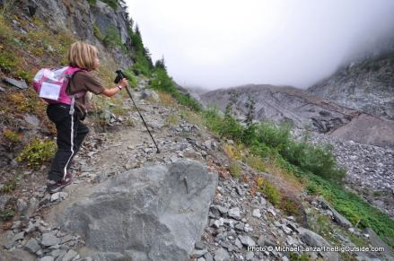 Wonderland Trail near Carbon Glacier.