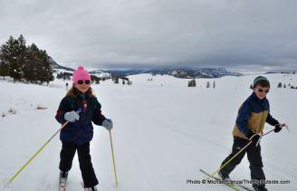 Tower Falls ski trail, Yellowstone