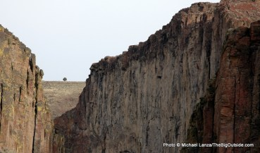 View from camp on East Fork Owyhee River.