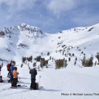 Along the ski tour to Red Mountain in Oregon's Wallowa Mountains.