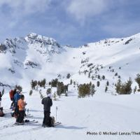 Along the ski tour to Red Mountain in Oregon's Wallowa Mountains.