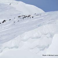 Skiing along Big Ridge above Norway Basin, in Oregon's Wallowa Mountains.