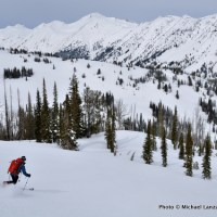 Dropping into the valley of Blue Creek, Wallowa Mountains, Oregon.