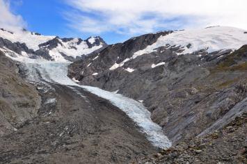 Above the Dart Glacier, Cascade Saddle route.