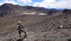 Stewart Barclay hiking Mt. Ngauruhoe.
