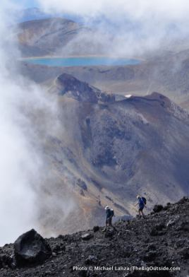 Hikers on Mt. Ngauruhoe