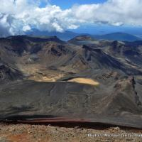 View from Mt. Ngauruhoe of Tongariro National Park.