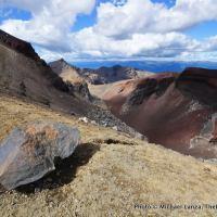 Rim of Red Crater, Tongariro National Park.