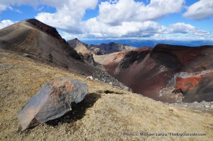 Rim of Red Crater, Tongariro National Park.
