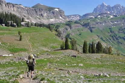 Teton Crest Trail, Death Canyon Shelf.