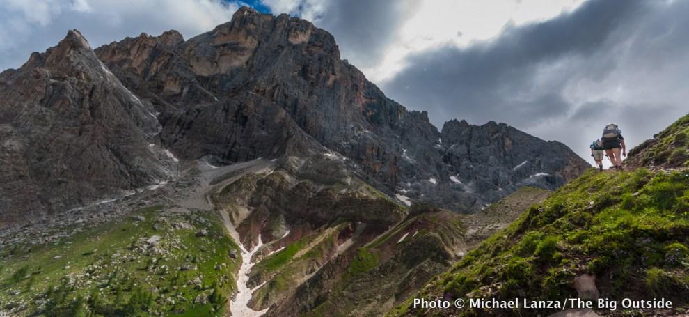 Trekking the Alta Via 2 in Italy's Dolomite Mountains.