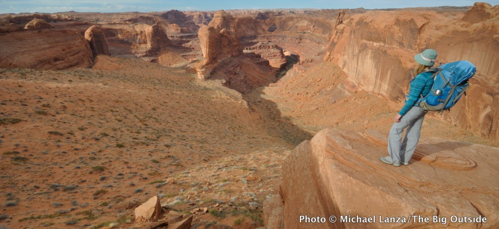 Above Crack-in-the-Wall, Coyote Gulch, Grand Staircase-Escalante National Monument, Utah.