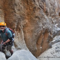 Steve Howe in Stegasaur Canyon.