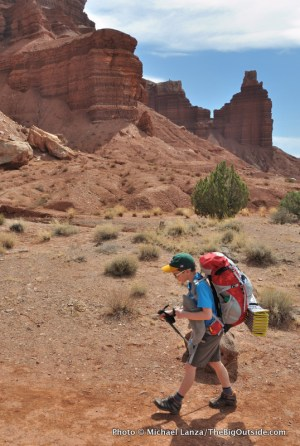 Nate, Chimney Rock Trail, Capitol Reef.