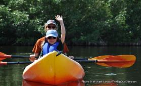 Paddling the East River in the Fakahatchee Strand.