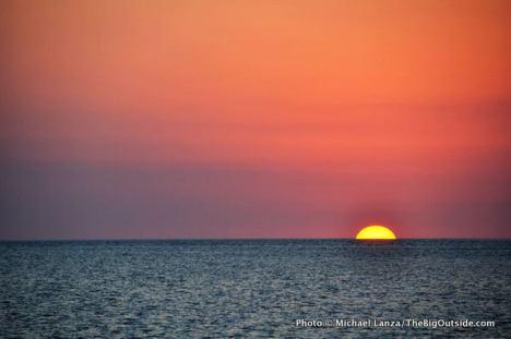 Sunset at Tiger Key.