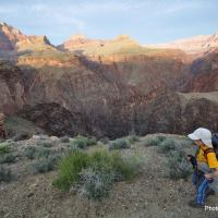Nate Lanza backpacks the Tonto Trail in the Grand Canyon.