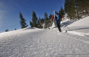Skiing the Twister Trail.