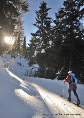 Skiing the Elkhorn Loop.