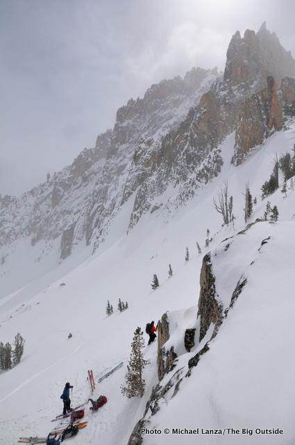 Pass north of Mt. Heyburn.