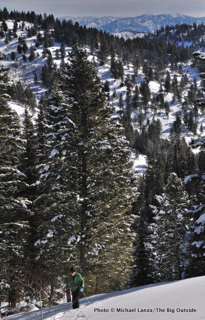 Nate climbing Freeman Peak, Boise Mountains, Idaho
