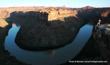 "Above ""Kid Rock"" campsite, Green River, Canyonlands National Park."