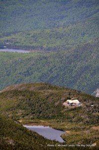 Greenleaf Hut, with Lonesome Lake Hut in background.