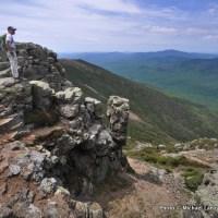 Mark Fenton hiking Franconia Ridge, White Mountains.