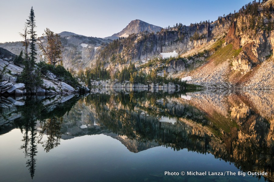 Early morning at Mirror Lake in Oregon's Eagle Cap Wilderness.