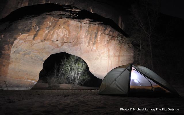 Campsite by Coyote Natural Bridge in Coyote Gulch.