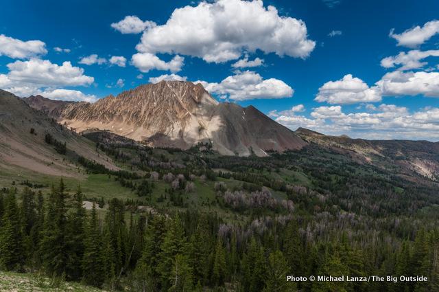Chamberlain Basin and Castle Peak, White Cloud Mountains, Idaho.