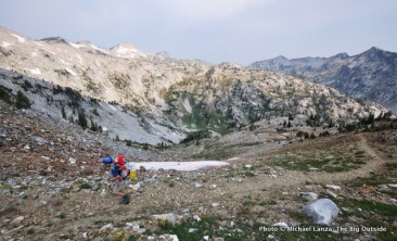Trail 1820 to Hawkins Pass, Eagle Cap Wilderness.