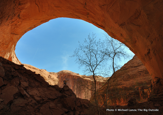 Below Jacob Hamblin Arch in Coyote Gulch, Grand Staircase-Escalante National Monument, Utah.
