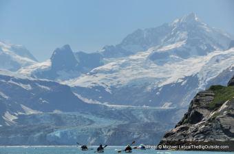 Sea kayaking Glacier Bay National Park, Alaska.