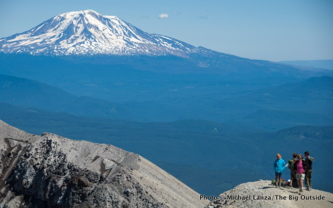 Crater rim of Mount St. Helens, WA.