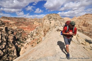 First day, Beehive Traverse, Capitol Reef