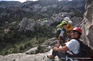 Nate and friends at the City of Rocks, Idaho.