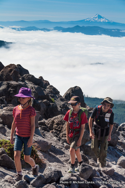 Hiking Monitor Ridge, Mount St. Helens.