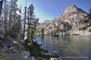 Backpacking to Lake 8522, Sawtooth Mountains, Idaho.