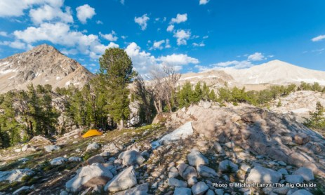 Campsite near Cove Lake, Big Boulder Lakes.
