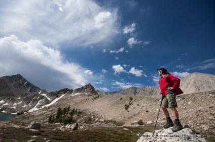 Cirque Lake below David O. Lee Peak, Big Boulder Lakes, White Cloud Mountains.