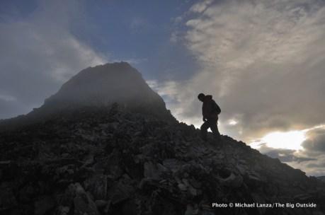 Climbing Kyrkja peak in Jotunheimen.