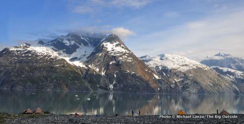 Campsite, Johns Hopkins Inlet, Glacier Bay