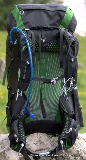 Osprey Exos 58 suspension.